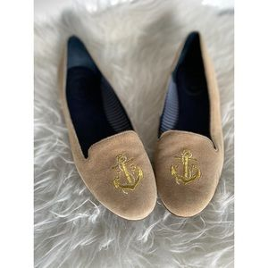 Jack Rogers suede anchor flats size 7
